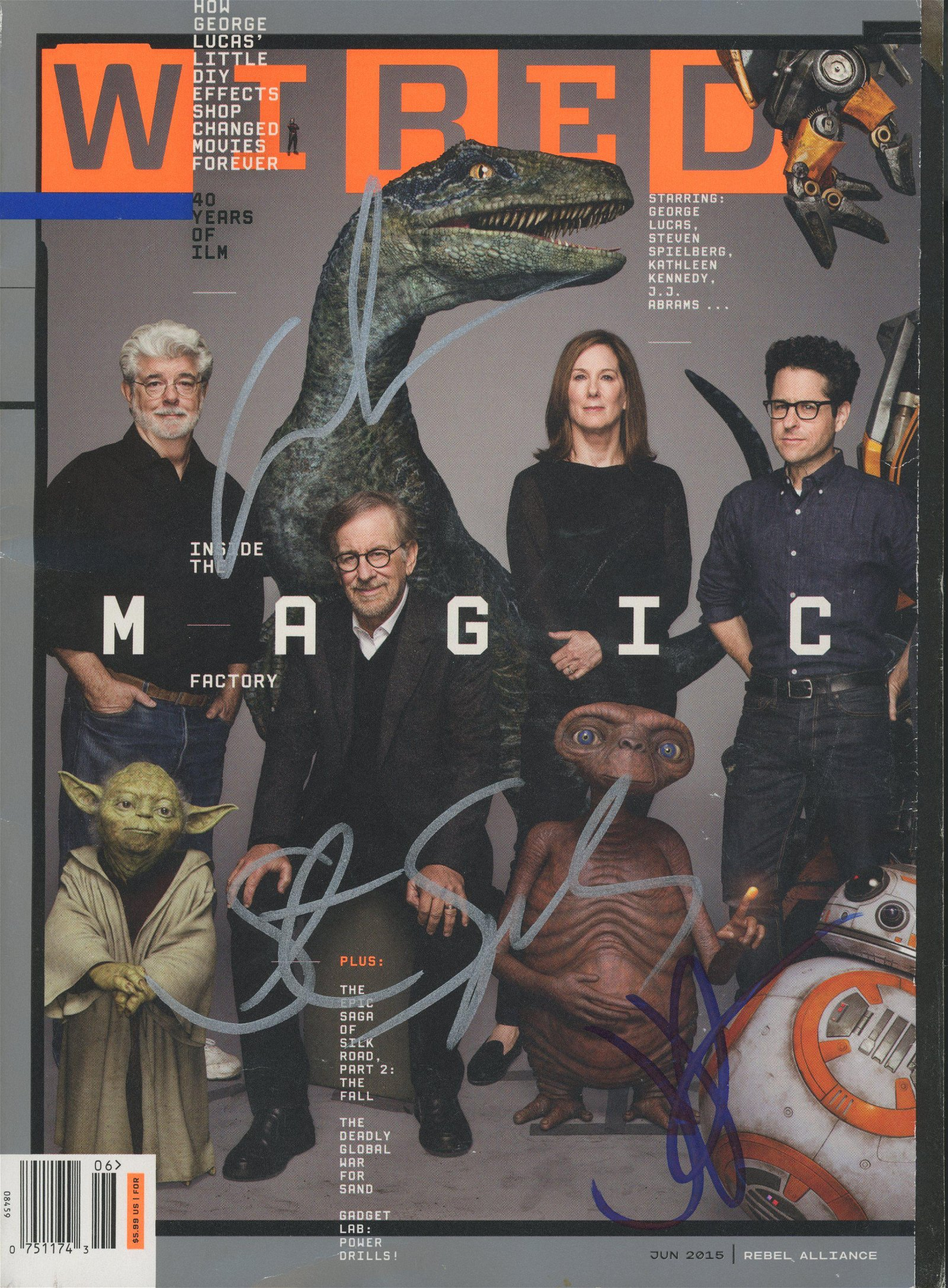 George Lucas, Steven Spielberg and JJ Abrams signed