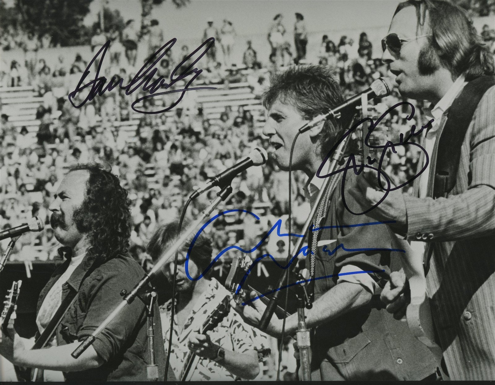 Crosby, Stills & Nash signed photo