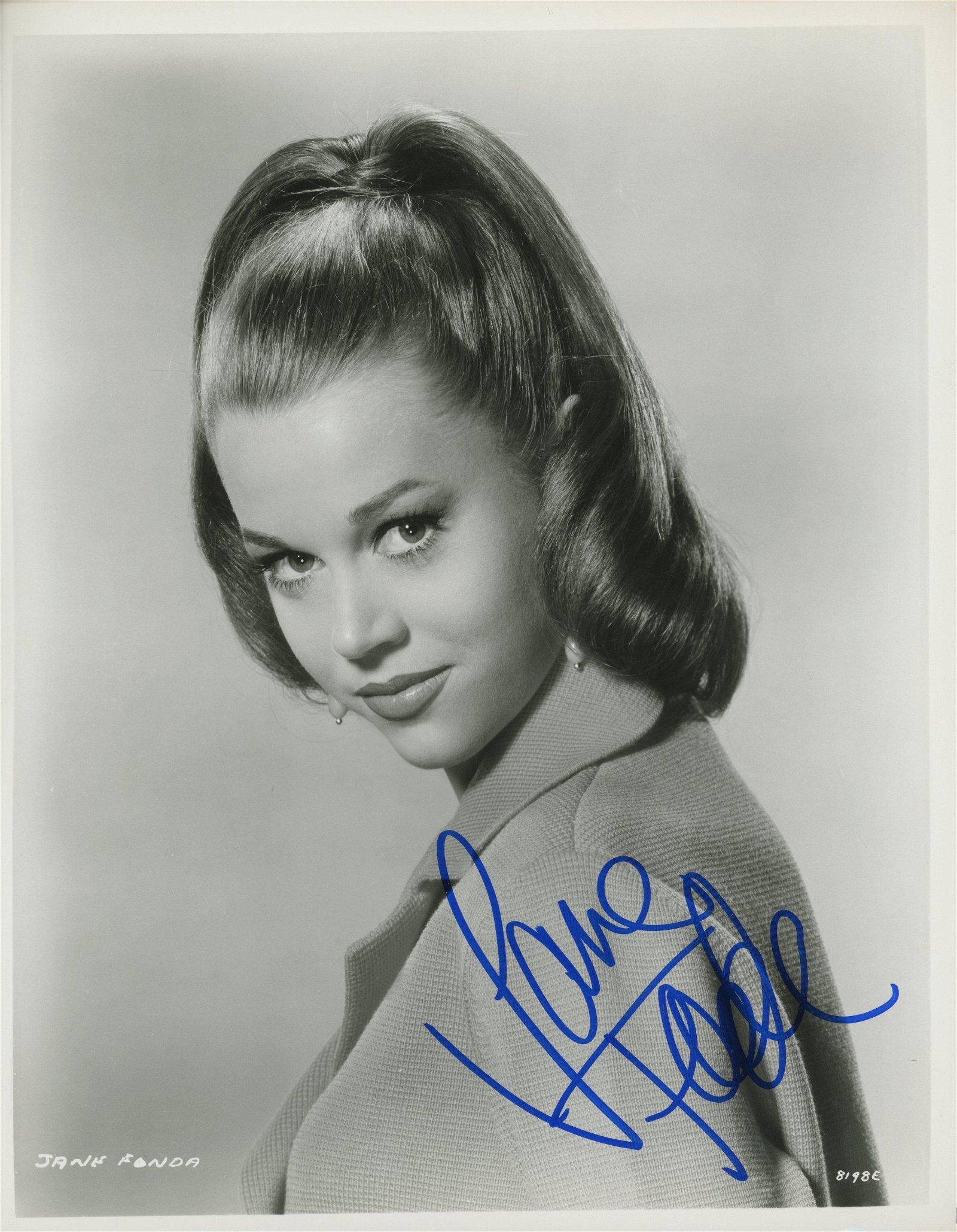 Jane Fonda signed photo