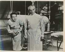 Carrol Naish and Boris Karloff signed The House of