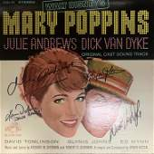 Mary Poppins cast signed sound track
