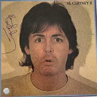 Paul McCartney McCartney II signed album