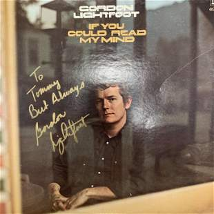 Gordon Lightfoot If You Could Read My Mind signed album