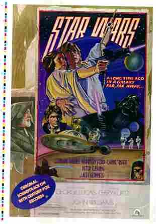 Star Wars 1977 original vintage one sheet poster