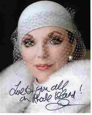 Joan Collins Signed Photo with note