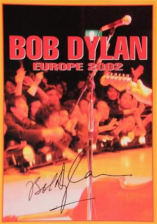 Bob Dylan autographed 2002 Europe World Tour Book