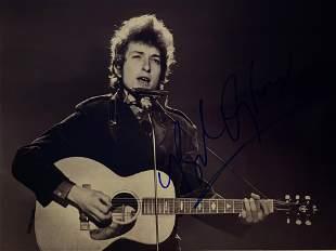 Bob Dylan signed photo