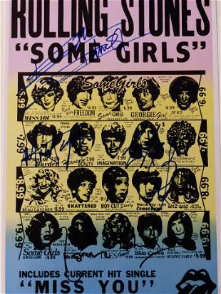 The Rolling Stones Some Girls signed album art