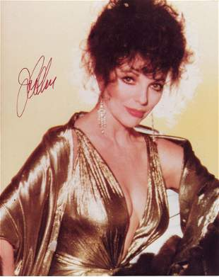 Joan Collins signed photo