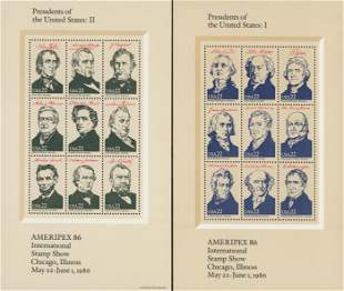 1986 Ameripex '86 Presidents of the United States,