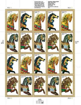 Carousel Horses Stamps