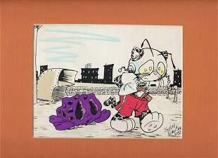 Joshua Quagmire signed original drawing