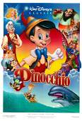 Pinocchio 1992R original vintage movie poster