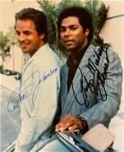Miami Vice Don Johnson and Philip Thomas signed photo