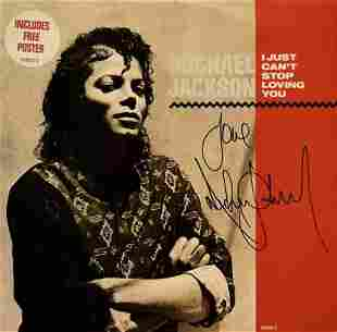 """Michael Jackson signed """"I Just Can't Stop Loving You"""""""