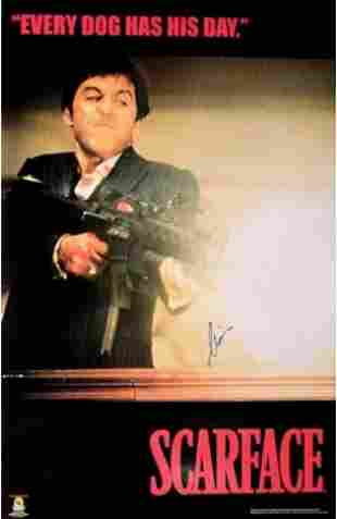 """Al Pacino signed """"Scarface"""" movie poster"""