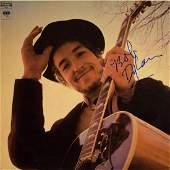 Bob Dylan Nashville Skyline signed album