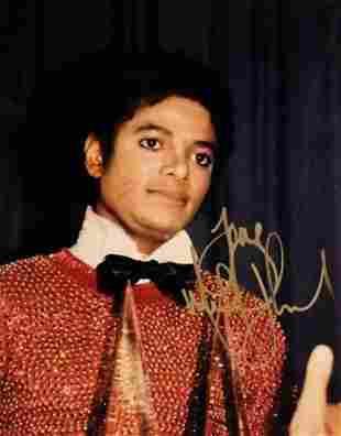 Michael Jackson signed promo photo