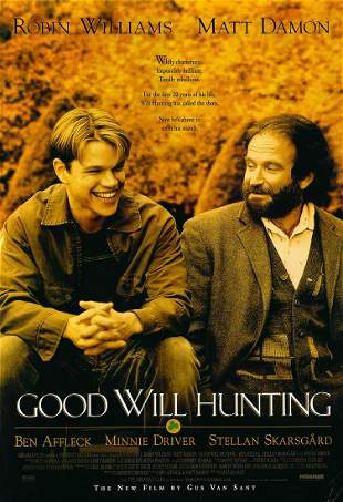 Good Will Hunting 1997 original movie poster