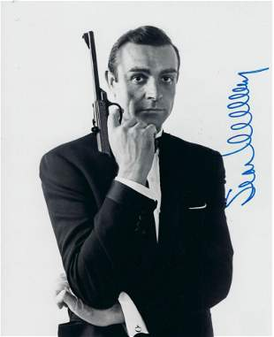 James Bond Sean Connery signed movie photo