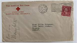 1922 U.S. cover from the American Red Cross