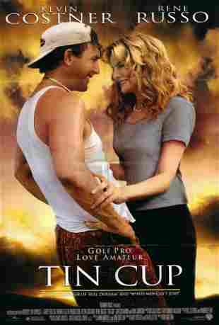 Tin Cup original 1996 vintage movie poster