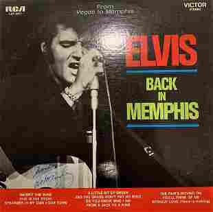 Elvis Presley Back In Memphis signed album