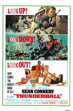 Thunderball original 1965 vintage movie poster