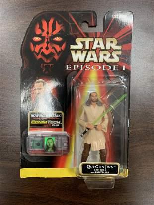 Star Wars unsigned Qui-Gon Jinn action figure