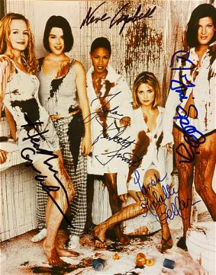 Scream 2 cast signed movie photo