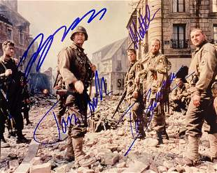 Saving Private Ryan cast signed movie photo