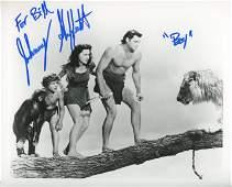 """Johnny Sheffield signed """"Tarzan film series"""" photo"""