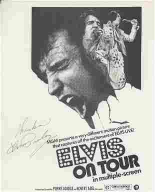 """Elvis Presley signed """"Elvis Live"""" movie promotion"""