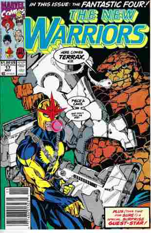 The New Warriors Marvel Comic Book #17