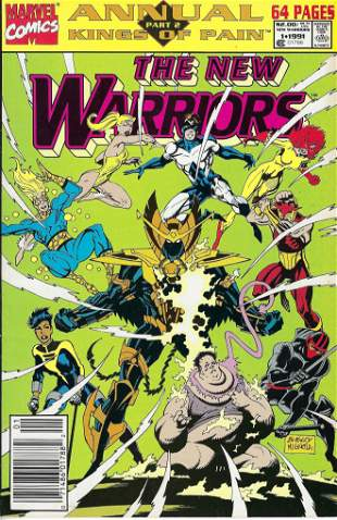 The New Warriors Annual Marvel Comic Book #1