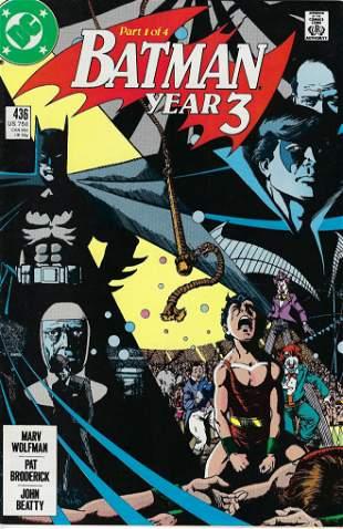 Batman DC Comic Book #436