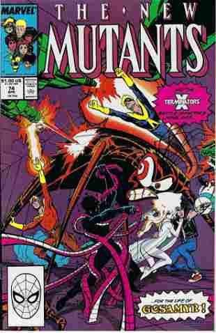 The New Mutants Marvel Comic Book #74