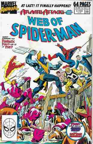 Web of Spider-Man Annual Marvel Comic Book #5