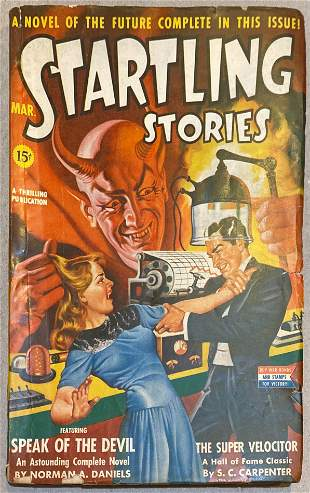 Startling Stories original March 1943 vintage pulp