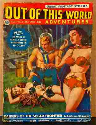Out of This World Adventures original 1950/12 vintage