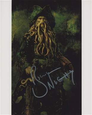 Pirates of the Caribbean Bill Nighy signed movie photo