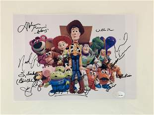 Toy Story cast signed movie photo