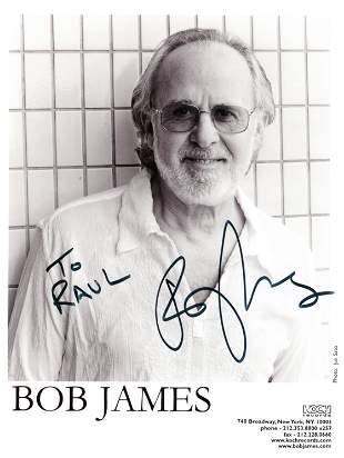 Bob James signed photo