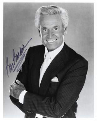 Game Show Host Bob Barker signed photo