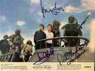 Star Wars Return Of The Jedi cast signed photo