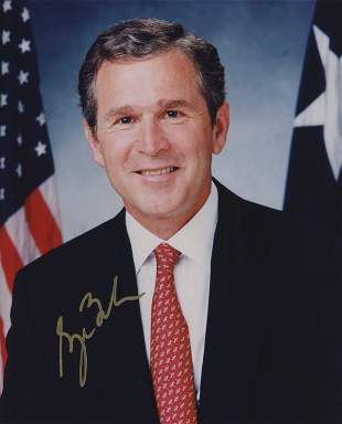 President George Bush signed photo