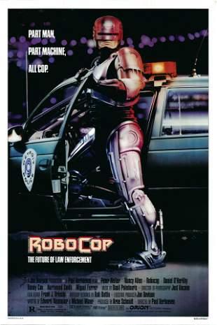 RoboCop 1987 original vintage one sheet movie poster