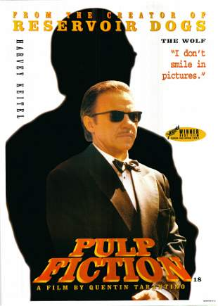 Pulp Fiction 1994 Miramax British Version Original One