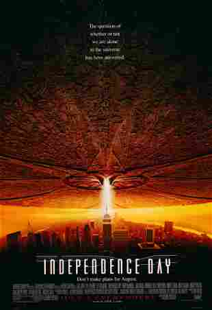 Independence Day 1996 original advance sheet movie