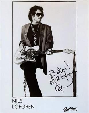 Nils Lofgren signed promo photo